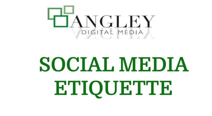 Social Media Etiquette | seo expert kent